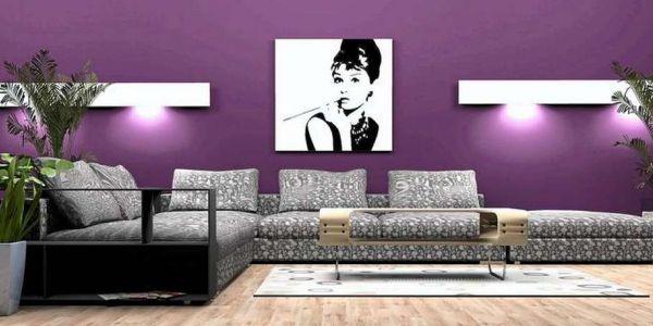 A decoração para a parede do sofá pode seguir várias vertentes diferentes (Foto: Divulgação)