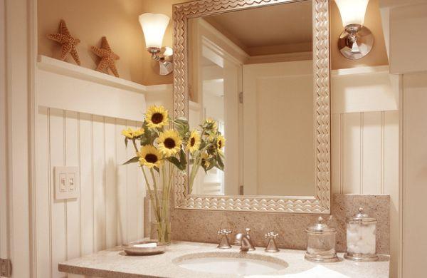 A decoração criativa para lavabos deixará seus convidados encantados com este cantinho de seu lar (Foto: Divulgação)