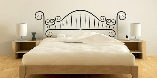 A decoração com cabeceiras desenhadas é uma ótima alternativa para economizar no momento de montar o décor de seu quarto, e se você mesmo desenhar irá economizar ainda mais (Foto: Divulgação)