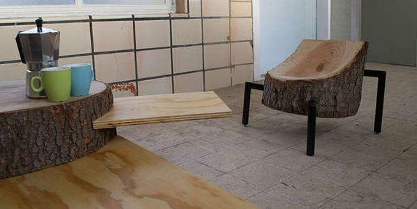 A decoração com troncos de árvores em casa não precisa seguir somente o estilo rústico, pode também seguir por outros caminhos (Foto: Divulgação)