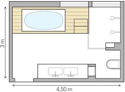 Decoração e Projetos Planta de Banheiro com Banheira e Boxe -> Planta Baixa De Banheiro Com Banheira E Closet