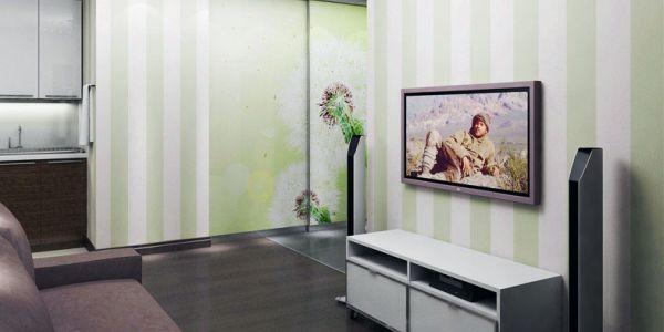 A decoração com paredes listradas traz mais diferenciação para seus espaços (Foto: Divulgação)