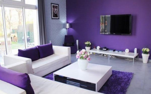 A decoração com roxo para ambientes pode ser o que faltava em sua casa para reanimar os espaços (Foto: Divulgação)
