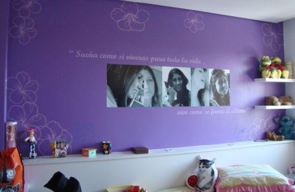 decoração de quarto feminino com frase é ótima opção para