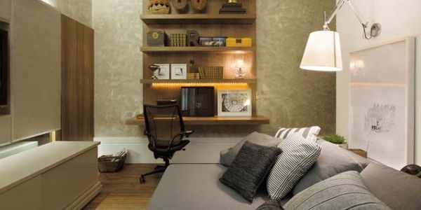A decoração de quarto com escritório pode garantir conforto e praticidade para todas as atividades que você for realizar neste ambiente (Foto: Divulgação)