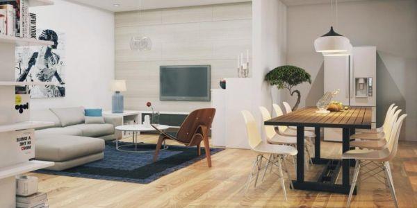 A decoração de sala conjugada deve ser bem interessante, independente se integrará anda mais os espaços ou irá separá-los ainda mais (Foto: Divulgação)