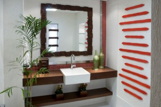 Decoração e Projetos Decoração Rústica para Banheiros -> Decoracao Banheiro Rustica