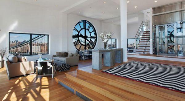 A decoração de ambientes com relógios pode trazer o estilo que você quiser e ter as peças que você quiser (Foto: Divulgação)