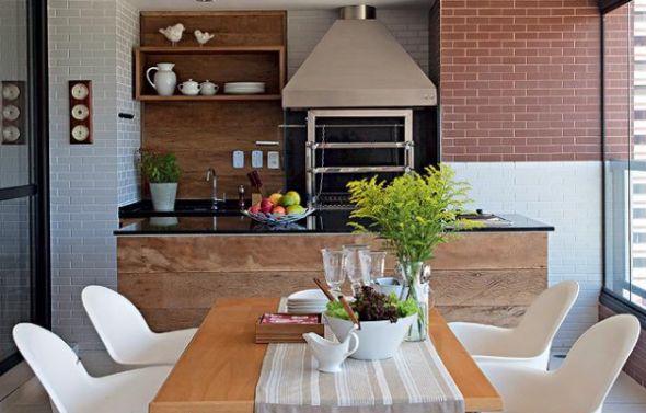 Decora o e projetos decora o de varanda gourmet com churrasqueira - Duchas pequenas ...