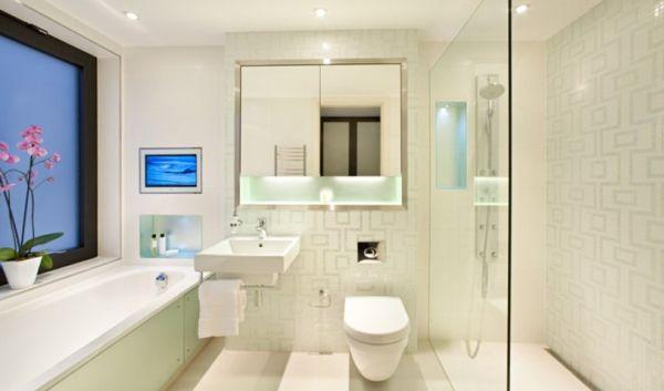 A decoração para deixar banheiro mais espaçoso é ótima opção para quem também busca uma decoração diferenciada (Foto: Divulgação)