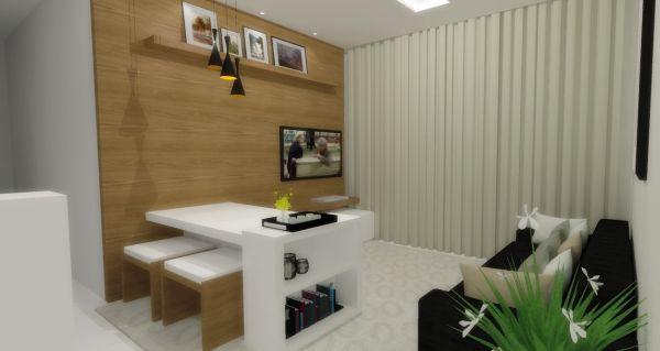 Projeto De Sala Pequena ~ Decoração e Projetos Projetos de Salas Pequenas