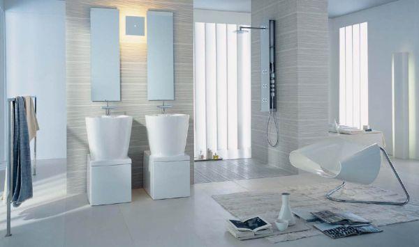 A decoração delicada para banheiros é perfeita para quem gosta de clima leve em sua casa (Foto: housearquitectura.com)