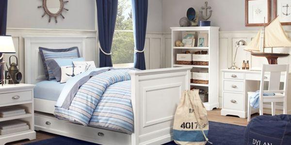 A decoração navy para quarto infantil garantirá descontração para o dia a dia dos seus filhos (Foto: thriftydecorchick.blogspot.com)