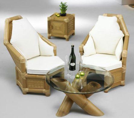 Decora o e projetos decora o com m veis de bambu for Muebles de bambu y mimbre
