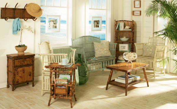 A decoração com móveis de bambu garante fôlego novo para o seu ambiente (Foto: kenianimports.com)