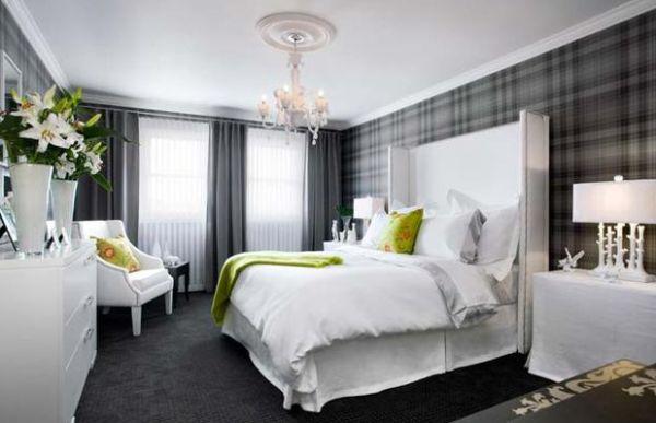 A decoração de ambientes com estampa xadrez pode até mesmo estar presente em seu quarto (Foto: decor4all.com)