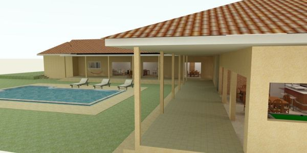 Decora o e projetos projetos de casas com piscina nos for Modelos piscinas pequenas para casas