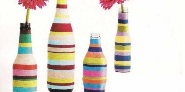 Com estas garrafas decoradas para ambientes o seu décor ficará muito mais interessante (Foto: solidarium.net)