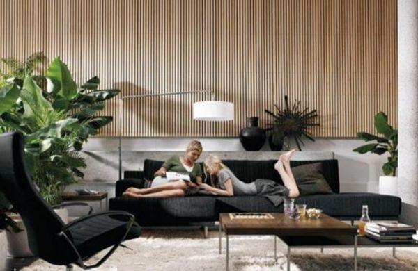 A decoração de ambientes internos com listras repagina seus espaços sem esforços (Foto: room-ideas.com)