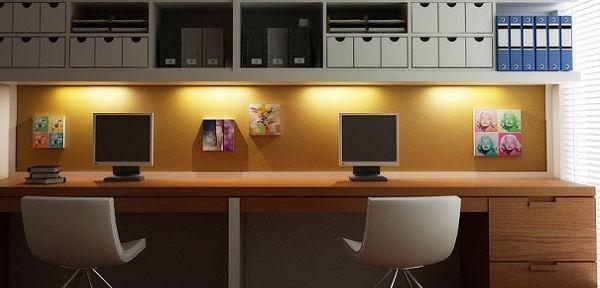 A decoração de home office coletivo deve ser democrática (Foto: rereos.com)