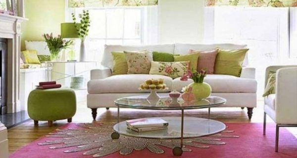 A decoração de primavera para salas é alegre e repagina rapidamente a sua sala (Foto: decoholic.org)