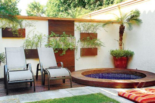 Decora o e projetos decora o para quintal pequeno com piscina - Pisos baratos de bancos en el ejido ...