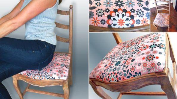 Forrando cadeiras você economiza no décor, mas o repagina (Foto: sew4home.com)