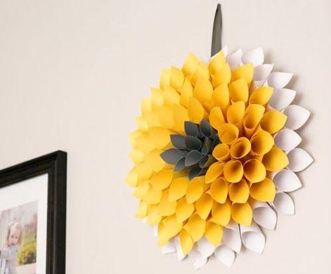 Esta decoração de papel para casas é linda, mas ao mesmo tempo barata e fácil de ser feita (Foto: comofazeremcasa.net)