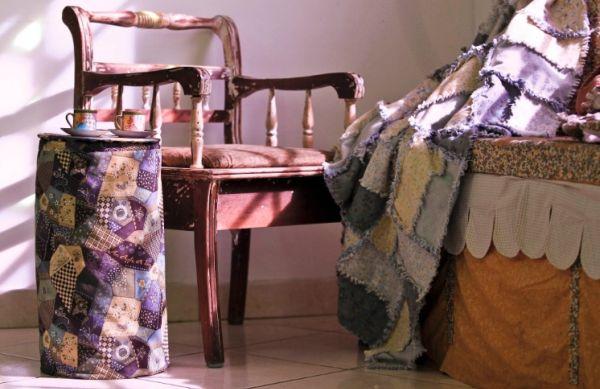 Este porta-edredom que vira mesinha decorativa é muito criativo e lindo (Foto: mulher.uol.com.br)