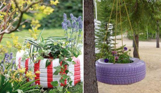 10 Ideias De Como Decorar Jardim Com Pneus Velhos Pictures to pin on
