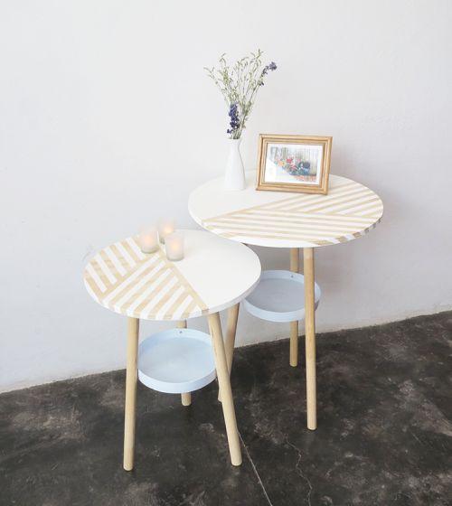 Esta mesa de canto é diferente e barata para ser feita (Foto: ohohblog.com)