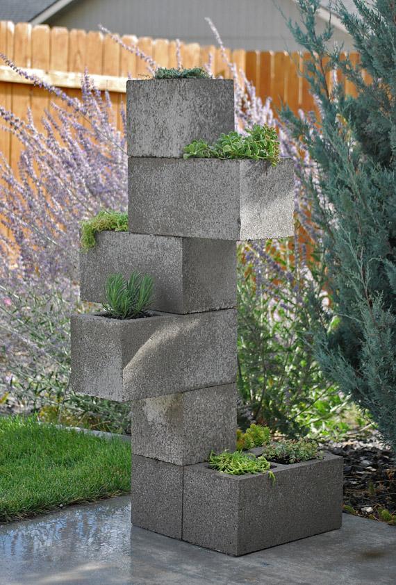 Decora o e projetos como fazer um vaso de plantas de for Escalera de bloque de jardin