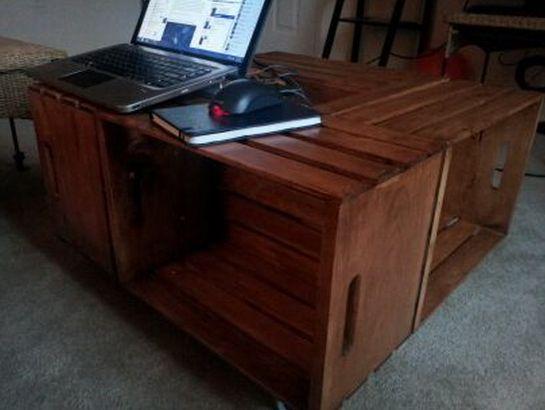 Com esta mesa de centro feita de caixote seu ambiente será outro (Foto: removeandreplace.com)