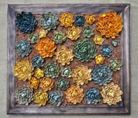 Seus ambientes vão agradecer quando receberem este quadro feito com conchas (Foto: addicted2decorating.com)