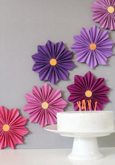 Decoração e Projetos 7 Decorações de Paredes com Flores de