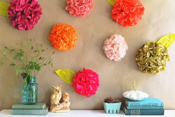 Decora o e projetos 7 decora es de paredes com flores de - Cenefas de papel para paredes ...