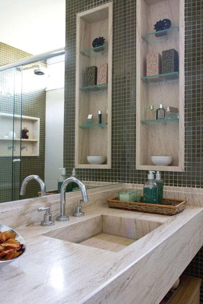 Decoração e Projetos 9 Ideias para Decorar Banheiros com Nichos -> Foto Nicho Banheiro