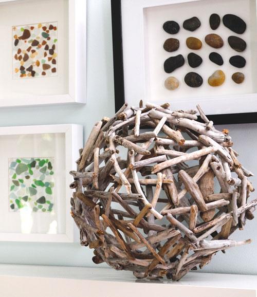 Bola de madeira para decoração é diferente e você faz em casa, e com um baixo custo (Foto: creativeinchicago.com)