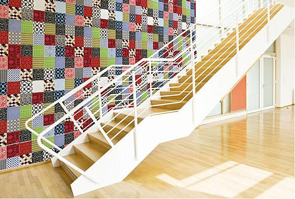 Paredes decoradas com retalhos de tecidos podem ter o estilo que você quiser (Foto: blog.dactylo.com.br)