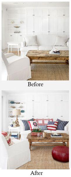A decoração para sala de estar deve ser bem criativa, e não necessariamente cara (Foto: decoratingfiles.com)