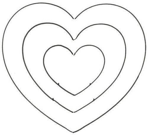 molde coração vazado