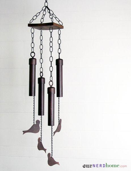 Sino de vento decorativo deixa o seu lar também mais relaxante (Foto: ournerdhome.com)