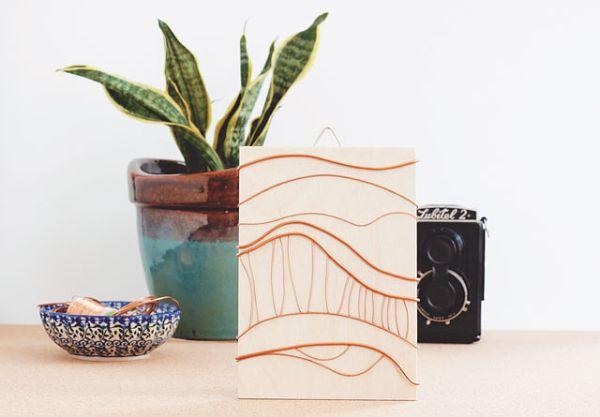 Quadro decorativo barato é também rápido de ser feito (Foto: jadeandfern.com)