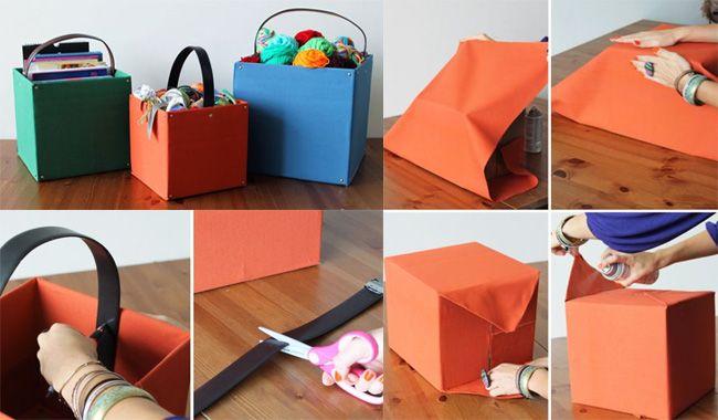 o que fazer como uma caixa de papelão