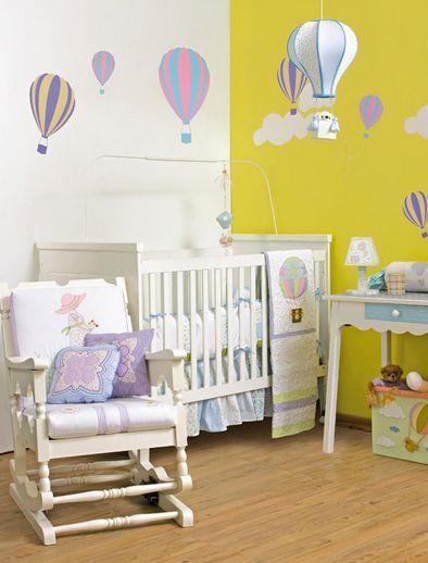 Quarto de bebê com tema balões é diferente e muito fofo (Foto: diy-enthusiasts.com)