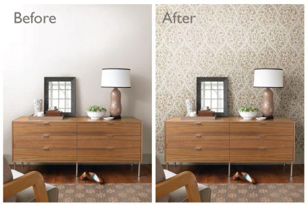 Decoração com papel de parede pode ser barata se você fizer todo o processo (Foto: blog.brewsterwallcovering.com)