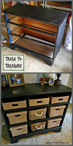 Wood Storage Bench Old Dressers