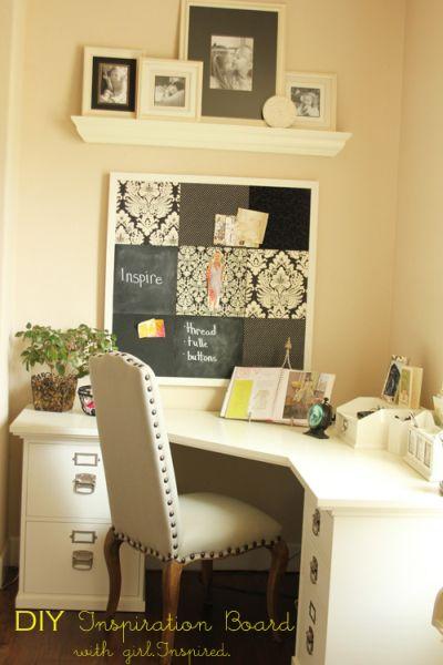 Esta ideia diferente de quadro de avisos para decoração organiza e decora de forma primorosa (Foto: thegirlinspired.com)