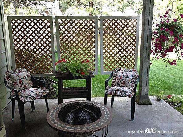 Decoração de madeira para varanda é linda e diferente (Foto: hometalk.com)
