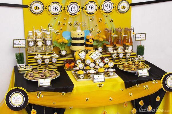 Decoração para festa infantil tema abelhinha é singela, mas muito bonita (Foto: lewismoten.com)
